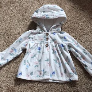Carters toddler girls floral fleece 18mo